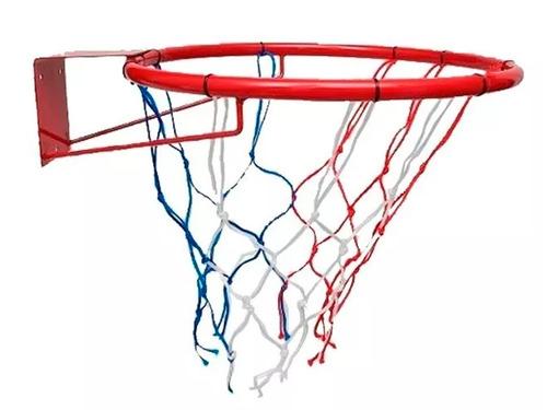 Aro Basket Basquet Con Red Nº7 45cm Hierro Ideal Niños!