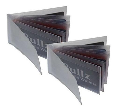 Porta Tarjetas De Vinilo Resistente De Bullz Por 2 Unidades
