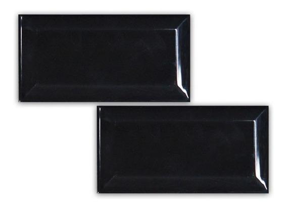 Oferta! Azulejo Brick 7.5x15 Negro Brillante Subway 1era -