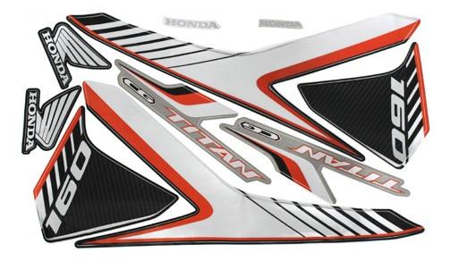 Adesivo Moto Titan160-ex 2018 Preta