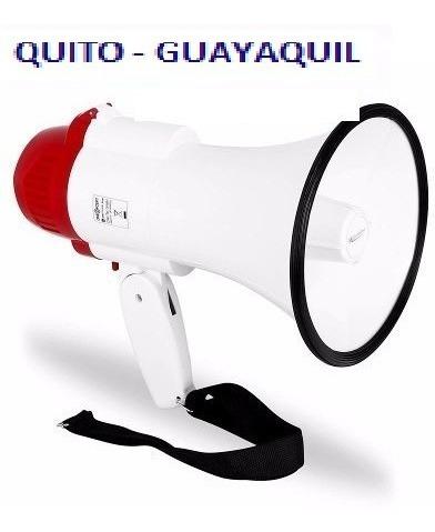 Megafono Portatil Distancia +/- 200 Mts Grabacion