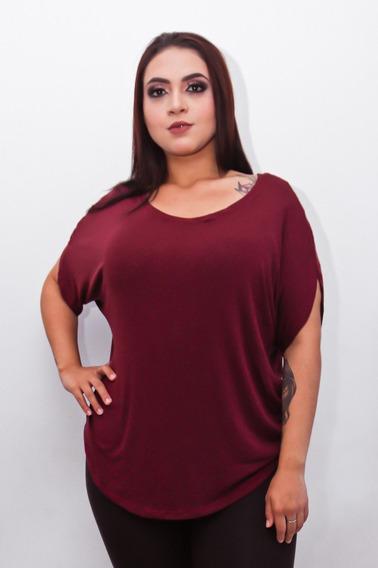 Blusa Plus Size T- Shirt Feminina Basic