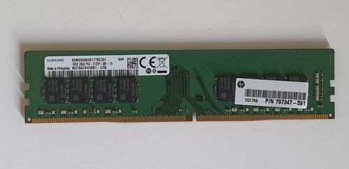 Imagem 1 de 1 de Memoria Ddr4 16 Gb Samsung 2400mhz