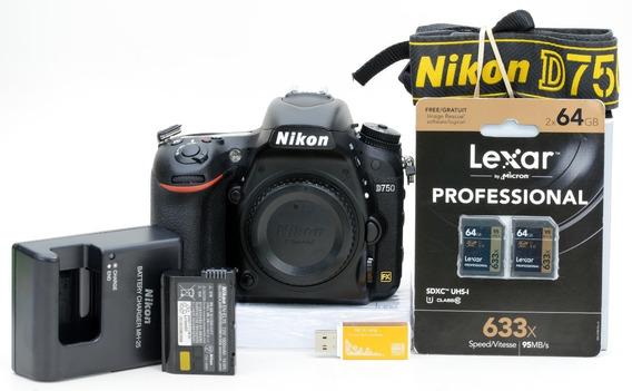 Nikon D750 Só 3.600 Cliques !!! + 2 Cartões 64gb 3104722