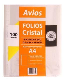 Folios Stendy Borde Blanco A4 X100 1º Calidad 40 Mic