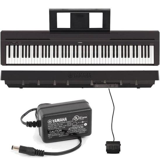 Piano Digital Yamaha P45 Preto Com Fonte