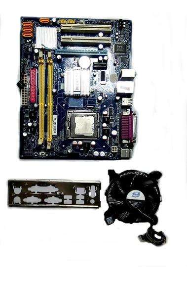 Kit Placa Mãe Gigabyte + Processador Intel Dual Core +cooler
