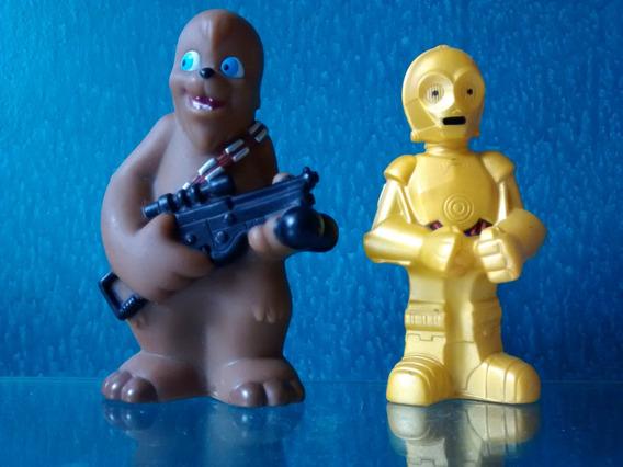Star Wars - Bonecos Do C3po E Chewbacca - Lucas Film/disney