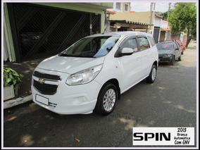 Minivan Spin 2013 1.8 - Branca / Automática Com Gnv