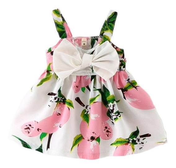 Vestido De Fiesta Para Niñas Bebé, Diseño Con Moño Y Flores