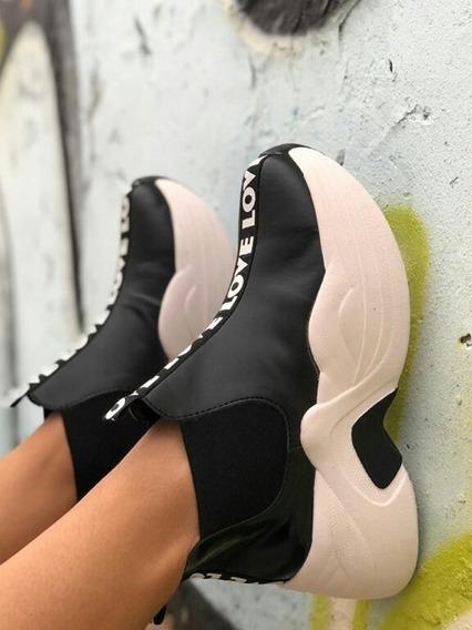 Zapatillas Mujer Plataforma Snaker Art Brooklyn