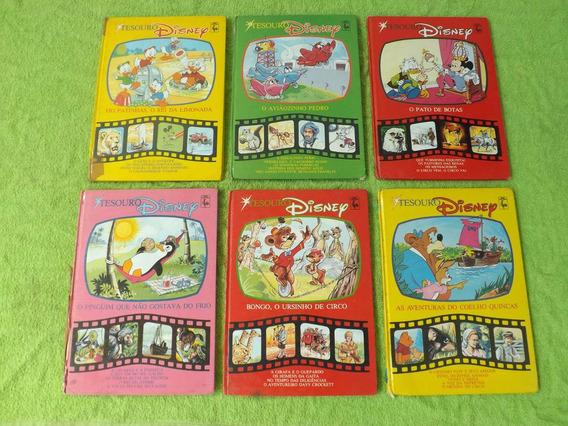 Lote De 6 Livros Da Coleção Disney Tesouro Ed. Nova Cultural