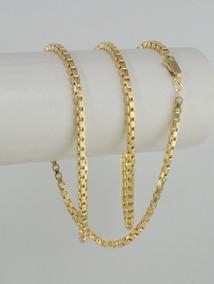 Corrente Masculina Cordão Veneziana 60cm 3mm Ouro 18k