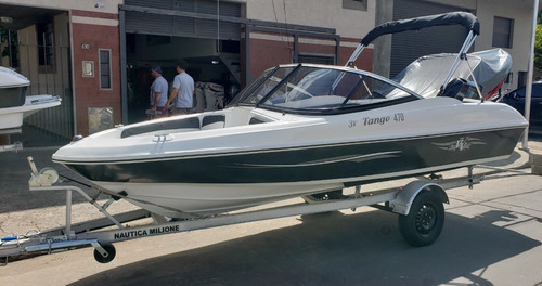 Imagen 1 de 15 de Lancha Open 3v Tango 470 Power Tec 40 Hp Nautica Milione 5