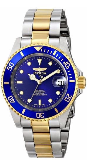 Reloj Invicta Pro Diver Automático Inoxidable 23k Oro 8928ob
