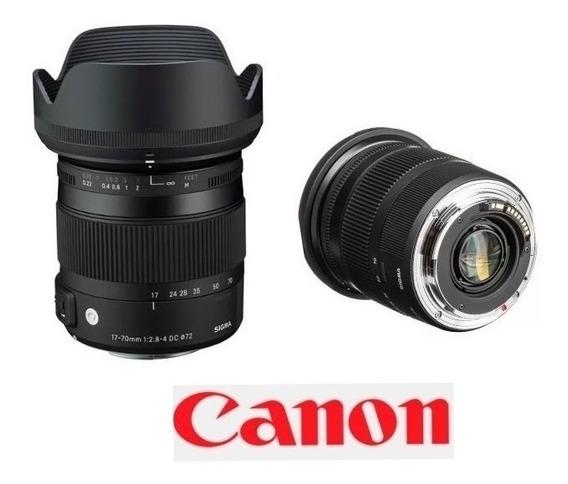 Lente Sigma Dc 17-70mm F/2.8-4 Os Hsm P/ Canon
