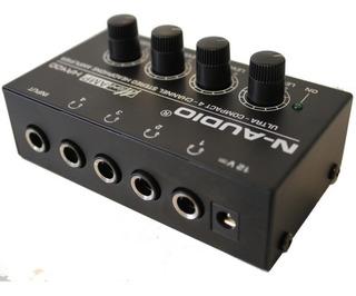 Amplificador De Auriculares N-audio Ha400 4 Ch Stereo