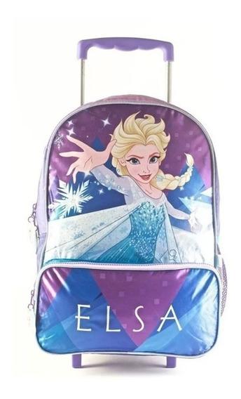 Mochila Frozen Elsa Con Carro 16 Escolar 88303 Maple Cuotas