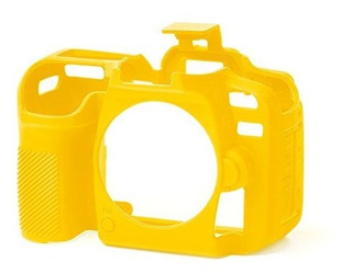 Funda Protectora Easycover Para Camara Nikon D7500 Amarillo