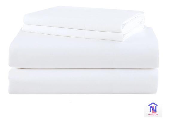 Kit 10 Lençóis Branco Sem Elástico Solteiro Hotel Atacado