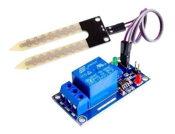 Sensor De Umidade De Solo Com Acionamento Relé