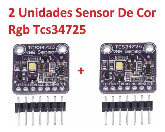 2 Unidades Sensor De Cor Rgb Tcs34725