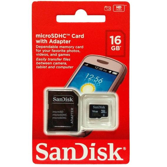 Cartão De Memória 16gb Sandisk Original Classe 4