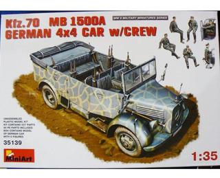 Miniart 1/35 35139 Kfz 70 Mb 1500 A German 4x4 Car W/ Crew