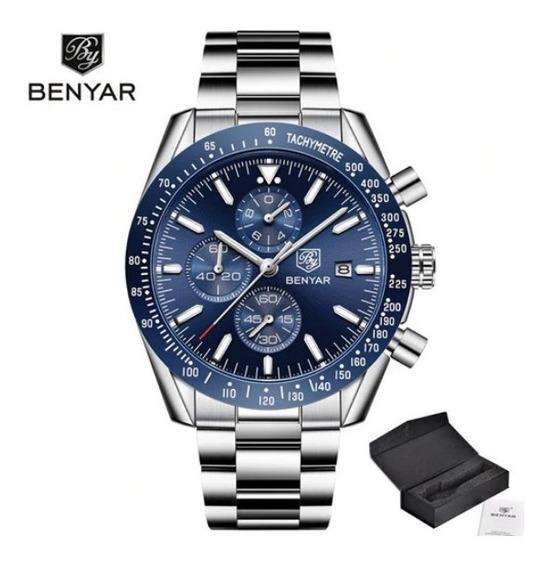 Relógio Benyar 5140 Masculino Azul