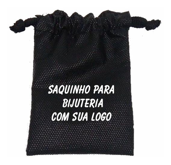 200 Saquinhos Para Bijuterias Joias C/ Sua Logo 8x12cm