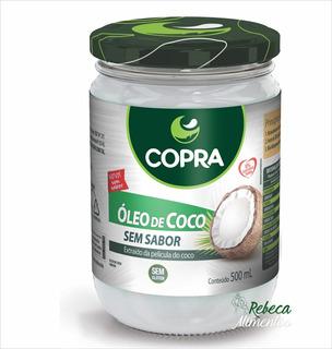 Óleo De Coco Sem Sabor 500ml Copra + Brinde
