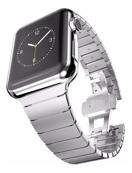 Correa Eslabones De Lujo Silver Apple Watch Serie 4 44mm