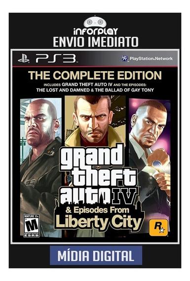 Gta Iv Complete Edition + Liberty City Ps3 Psn Envio Rápido