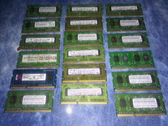 Memorias Ram Sodimm Dd3, 1gb Netbook, Notebook, All In One!