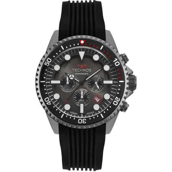 Relógio Masculino Technos Symaster Js25cc/8p Silicone Preto