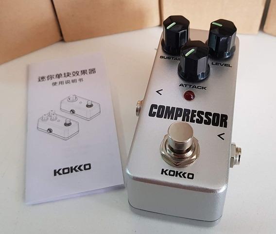 Pedal Sustain Compressor True Bypass Koko Resistente Pequeno