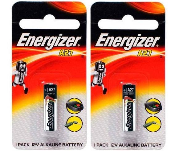 Pilha A27 12v Energizer P/ Alarme Controle Portão 2 Un