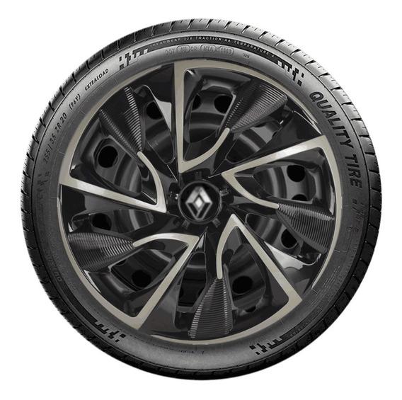 Calota Renault Novo Logan Pret Aro 15 Expression 2020 E5119u