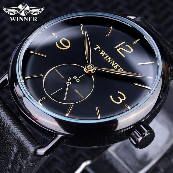 Vencedor Relógios Mecânicos Homens Relógio À Prova D