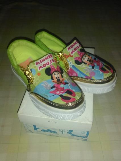 Zapatos Para Niña Minnie Talla 27