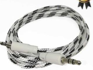 Cable Mini Plug A Mini Plug 3,5mm Auxiliar Mallado 1 Mt Aux2