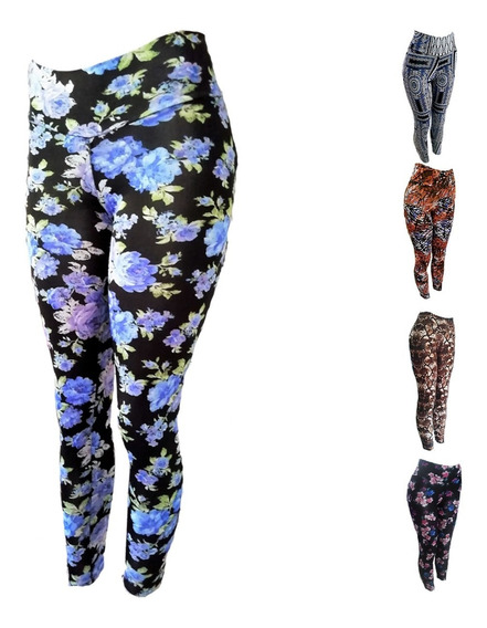 Pantalones Leggins Corte Alto Por Tallas By Plutonio