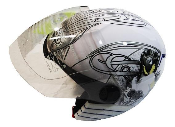 Casco De Moto Semi Integral/ Spark Jsb Dk Tiendas