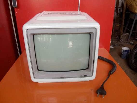 Antiga Tv Semp De 10 Polegada Tubo Funcionando