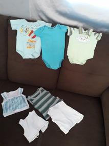 Lote Roupas Calçados Bebê Menino