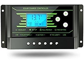 Controlador Carga 30a Regulador Tensão 12v 24v Placa Solar