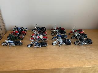 Kit Conjunto De Miniatura Motos Harley Davidson 1/18