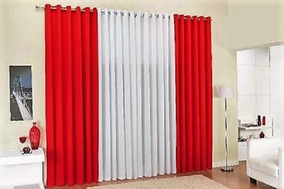 Cortina Oxford Maquinetada 6,00 X 2,60 Vermelha/branca