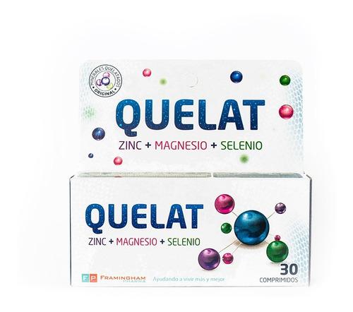 Quelat Zinc Magnesio Selenio Minerales Aminoquelados X30comp
