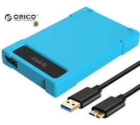 Case Hd Notebook 2.5 Usb 3.0 Em Silicone Maxima Proteção